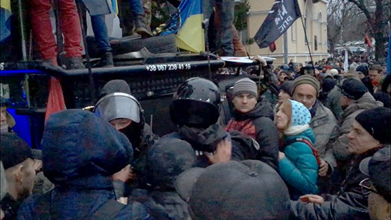 Поддржувачите на Саакашвили се обидоа да заземат сала во Киев