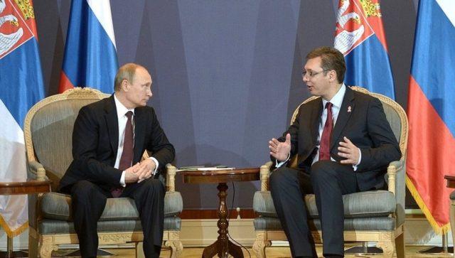 Вучиќ во Москва на средба со Путин