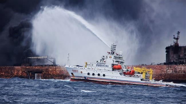 (ВИДЕО) Запалениот ирански танкер потонал