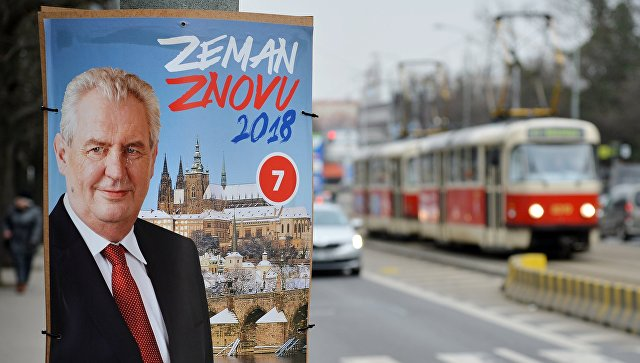 Земан победник во првиот круг од претседателските избори во Чешка