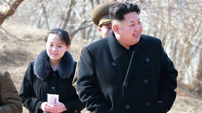 Јужнокорејскиот претседател со севернокорејски челник и сестрата на Ким Џонг-ун