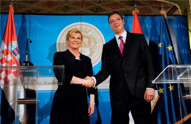 Српскиот претседател Вучиќ во посета на Хрватска