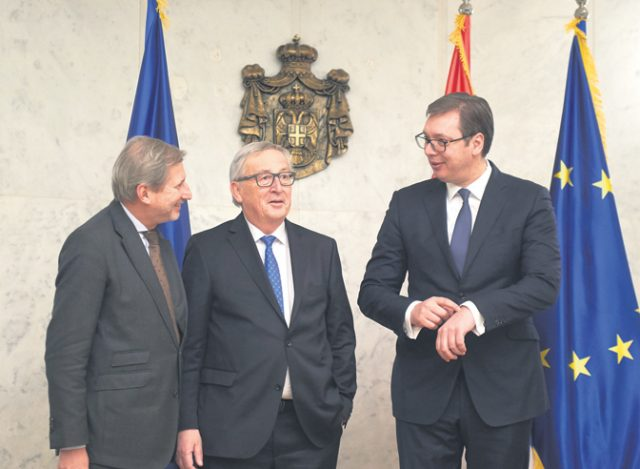 Јункер во Белград повтори дека во ЕУ не може да се оди со нерешени спорови