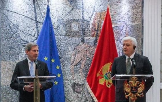 Хан во Подгорица: Брзината на влегувањето во ЕУ зависи од резултатите