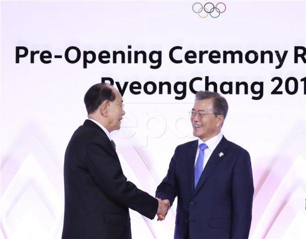 Ракување на шефовите на држави на двете Кореи