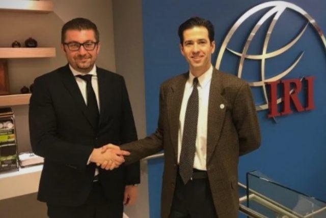 Мицкоски на средба со челникот на Меѓународниот републикански институт