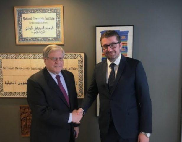 Мицкоски во САД, средба со претседателот на Националниот демократски институт
