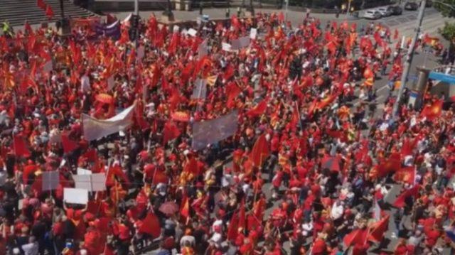 Илјадници Македонци ја пејат химната во Мелбурн  (ВИДЕО)