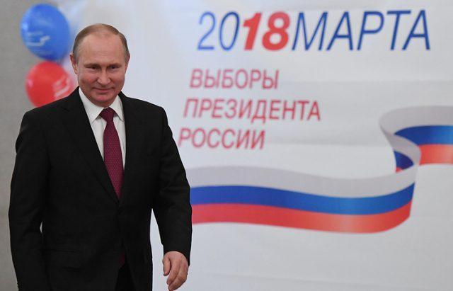 Путин очекувано до уште еден шестгодишен мандат на чело на Русија