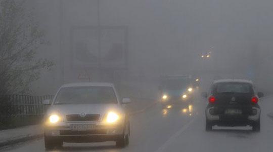 Времето облачно и магловито, сообраќајот се одвива по влажни коловози
