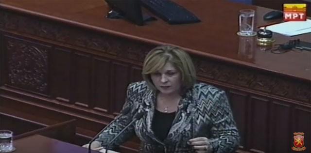 Кузмановска: СДСМ е против модернизација на армијата