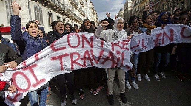 Протести на средношколците и студентите во Франција