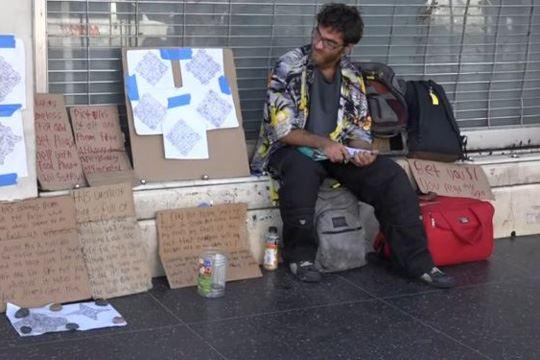 Бездомник ја спасил од напаѓач