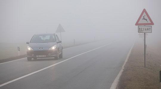Магла на одредини патни правци