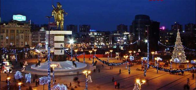 150.000 евра за новогодишно украсување на центарот на Скопје