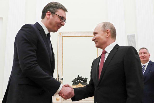 Вучиќ ѝ се заблагодари на Русија и вети дека нема да воведува санкции