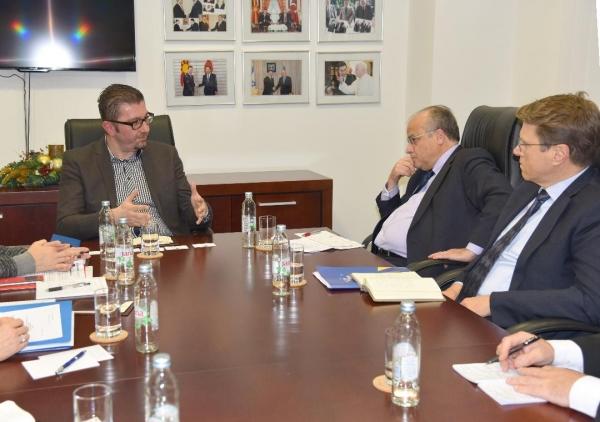 Претседателот на ВМРО ДПМНЕ на средби со високи претставници на ЕУ