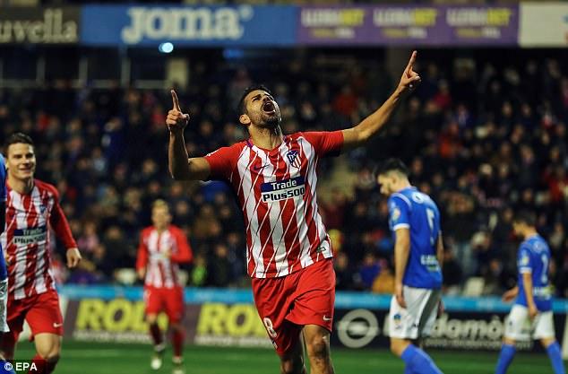 Атлетико убедлив, Коста се врати со погодок
