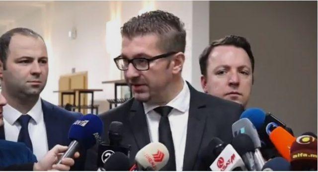 Мицкоски: Процесот на преговорите со Грција го води Владата, на неа е одговорноста