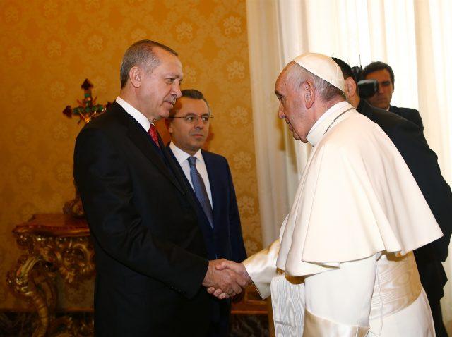 Ердоган и Папата разговараа за статусот на Ерусалим