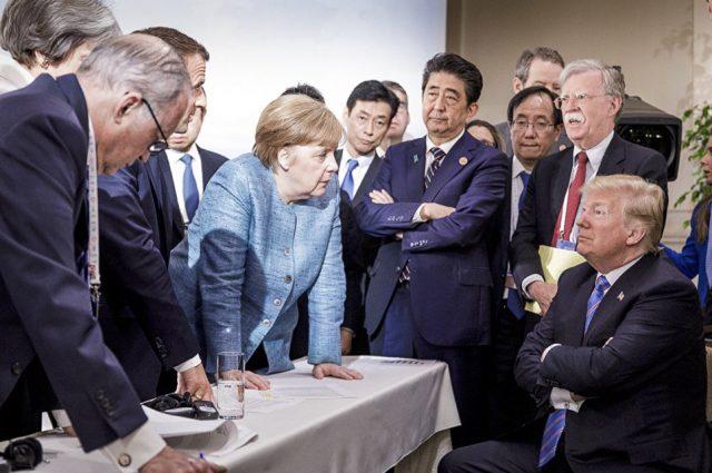 Фотографијата од самитот на Г7 за која се дискутира