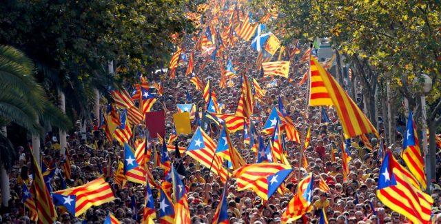 Каталонскиот национален ден го одбележува ново барање за независност