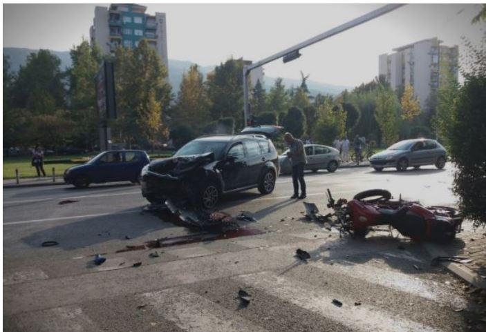 (ФОТО) Тешка сообраќајка во Капиштец