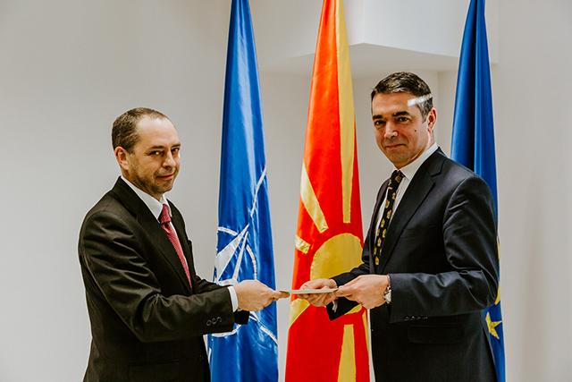 Димитров се сретна со новиот бугарски aмбасадор